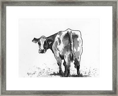 Big Bertha Blk/wht Framed Print by Marsha Elliott