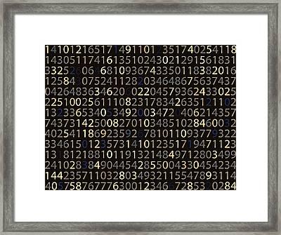 Big Bet Board Framed Print