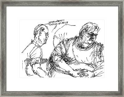 Big Billy And His Friend Framed Print by Ylli Haruni