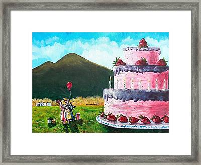 Big Birthday Surprise Framed Print by Shana Rowe Jackson