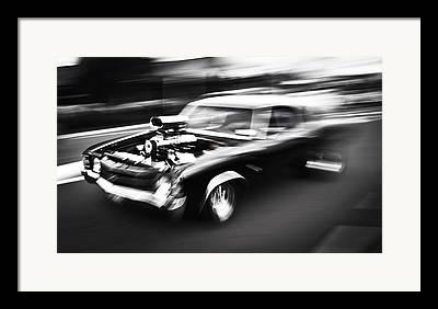 Speeding Chevrolet Framed Prints