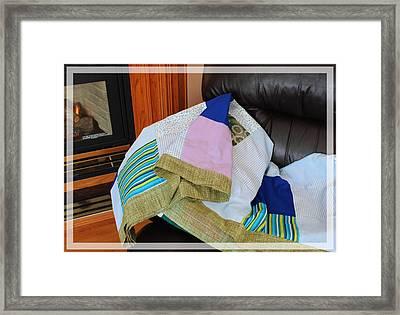Big Blocks Patchwork Quilt Framed Print by Barbara Griffin