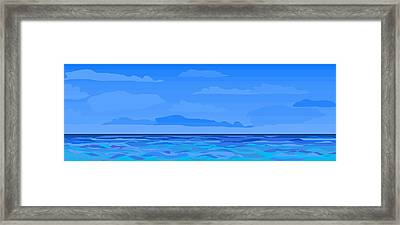 Big Blue 2 Framed Print by Alice Butera