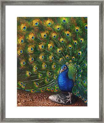 Big Blue Framed Print by Cara Bevan