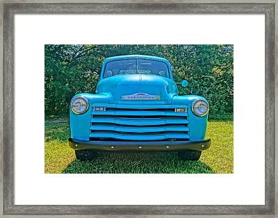 Framed Print featuring the photograph Big Blue by Chris Fraser