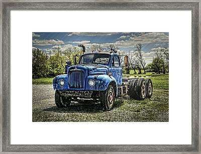 Big Blue Mack Framed Print