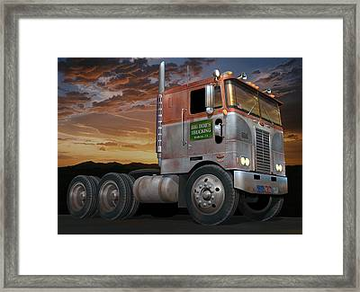 Big Bob's Cabover Framed Print