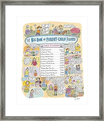 'big Book Of Parent-child Fights' Framed Print by Roz Chast