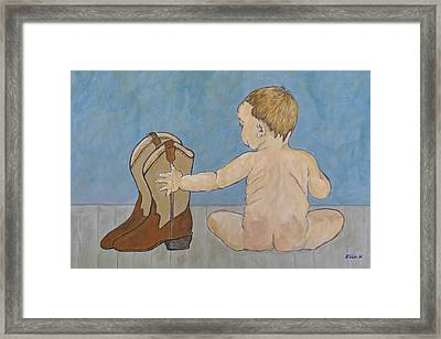Big Boots To Fill Framed Print by Ella Kaye Dickey