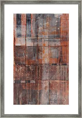 Framed Print featuring the painting Big Box Town by Buck Buchheister