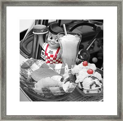 Big Boy In Black And White Framed Print