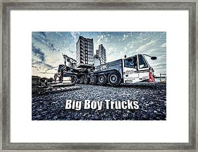 Big Boy Trucks Framed Print by Everet Regal