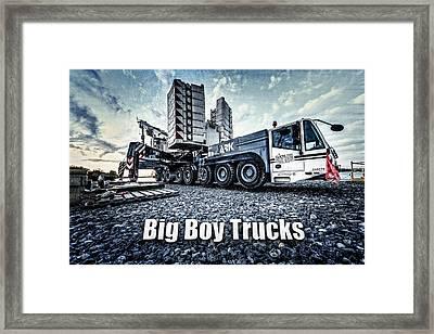 Big Boy Trucks Framed Print