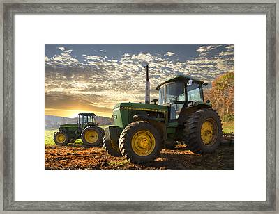 Big Boys' Toys Framed Print by Debra and Dave Vanderlaan