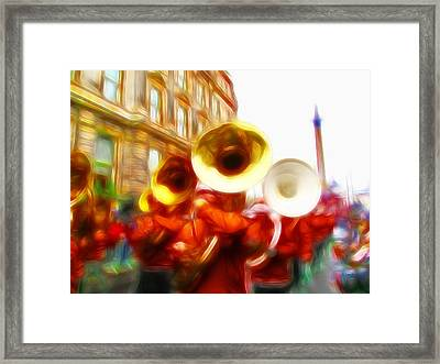 Big Brass Band Framed Print
