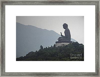 Big Buddha In Hong Kong Framed Print