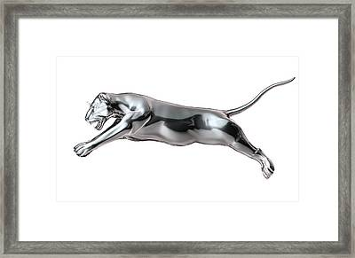 Big Cat Rendered In Metal Framed Print by Leonello Calvetti