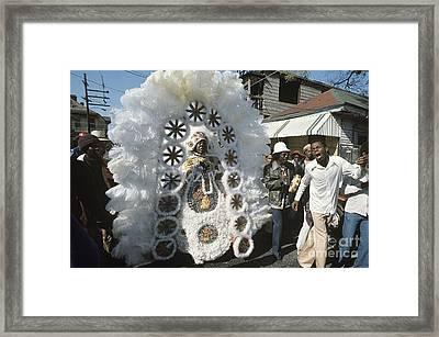 Big Chief Mardi Gras Indian Framed Print by Christopher R Harris