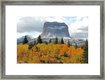 Big Chief Mountain - The Rock Of Legend Framed Print by Clay and Gill Ross