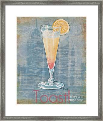 Big City Cocktails Champagne Framed Print by Paul Brent