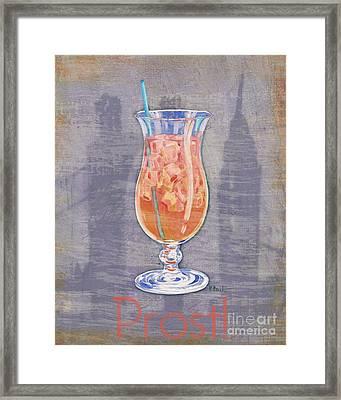 Big City Cocktails Singapore Sling Framed Print by Paul Brent