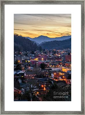 Big City Lights Framed Print