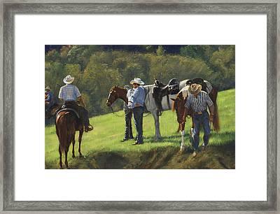 Big Creek Trail Ride Break Framed Print by Don  Langeneckert