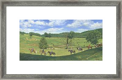 Big Creek Trail Ride Framed Print by Don  Langeneckert
