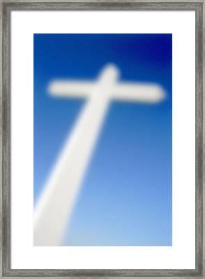 Big Cross Framed Print