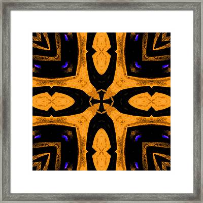 Big Cross Roads 1 Framed Print by Marcela Bennett