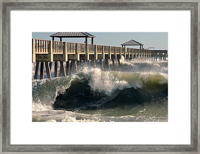 Big Curl Framed Print by Laura Fasulo