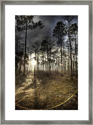Big Cypress Fire At Sunset Framed Print