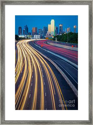 Big D Freeway Framed Print by Inge Johnsson