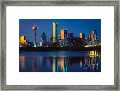Big D Reflection Framed Print by Inge Johnsson