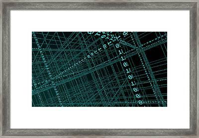Big Data Framed Print by Andrzej Wojcicki