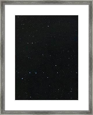 Big Dipper And Ursa Minor Constellation Framed Print by Eckhard Slawik