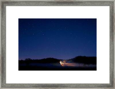 Big Dipper In The Valley Framed Print by Larry Bodinson