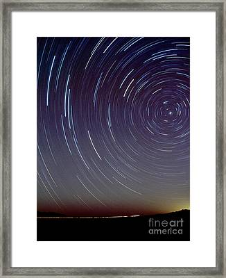 Big Dipper Trails Framed Print by Chris Cook