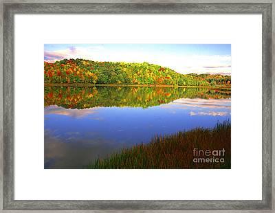 Big Ditch Lake West Virginia Framed Print by Thomas R Fletcher
