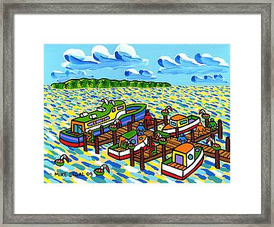 Big Dock - Cedar Key Framed Print by Mike Segal