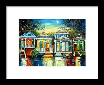 New Orleans House Framed Prints