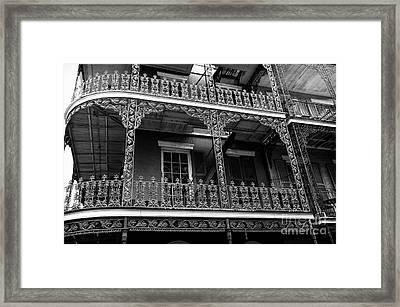 Big Easy Style Mono Framed Print by John Rizzuto