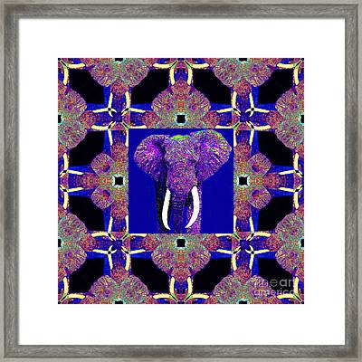 Big Elephant Abstract Window 20130201m118 Framed Print by Wingsdomain Art and Photography