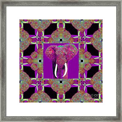 Big Elephant Abstract Window 20130201m68 Framed Print by Wingsdomain Art and Photography