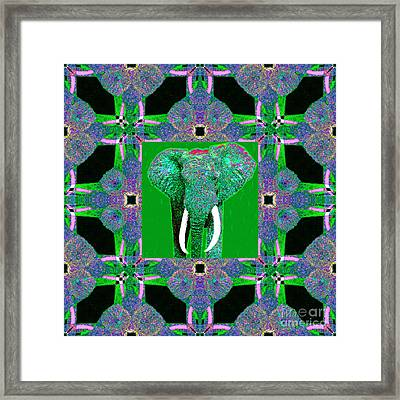 Big Elephant Abstract Window 20130201p128 Framed Print by Wingsdomain Art and Photography
