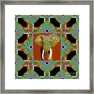 Big Elephant Abstract Window 20130201p20 Framed Print by Wingsdomain Art and Photography