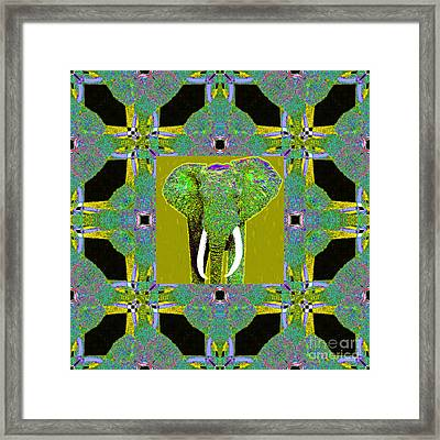 Big Elephant Abstract Window 20130201p60 Framed Print by Wingsdomain Art and Photography
