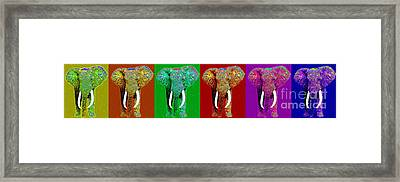 Big Elephant Six 20130201 Framed Print by Wingsdomain Art and Photography