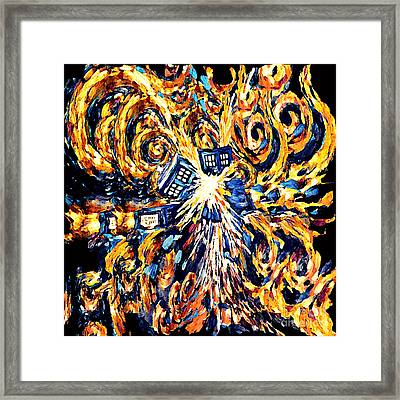 Big Exploded Phone Booth Framed Print by Three Second