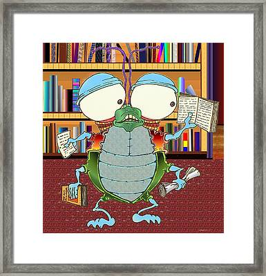 Big Eyed Bart Framed Print by Paul Calabrese